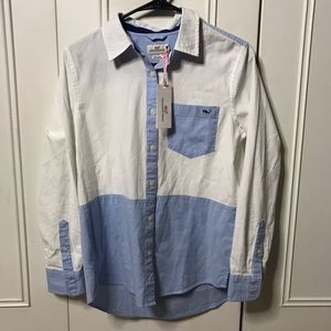 NWT vineyard vines relaxed ox button down size 0